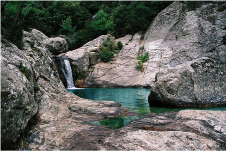One of the many swimming places high in the mountains